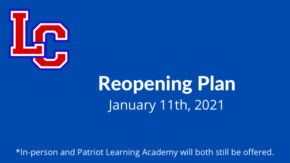 Guidance for Reopening School on January 11th