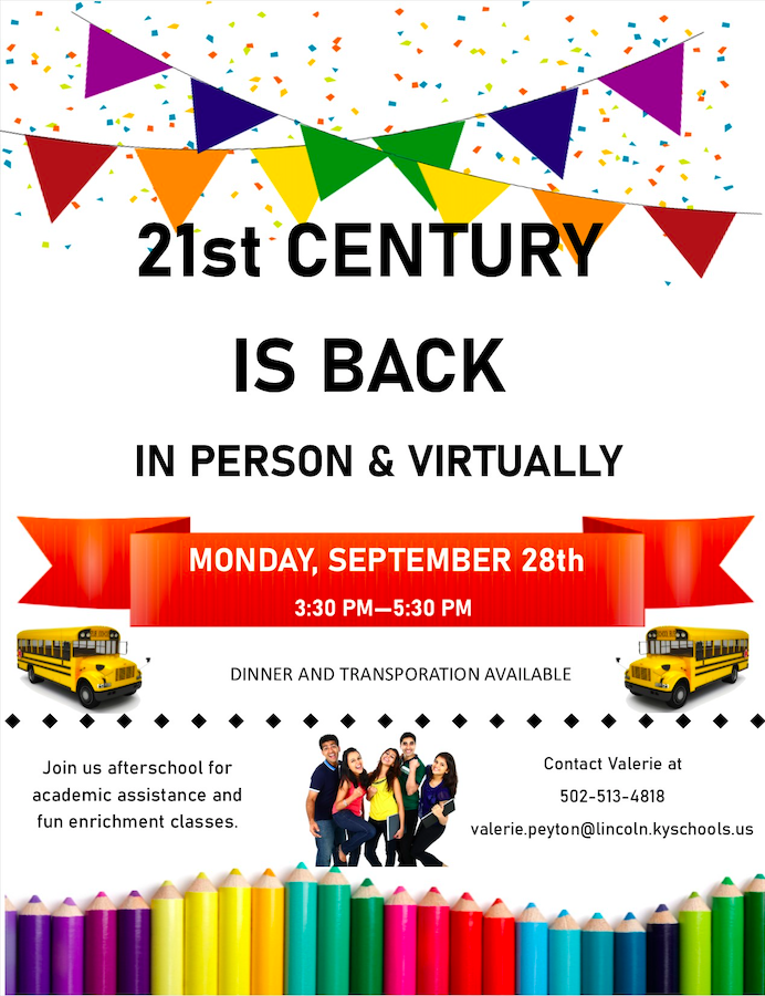 Lincoln County Schools 21st Century CCLC will Resume In-Person & Virtually on 9/28