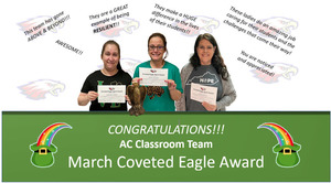March Staff Coveted Eagle Award Winner