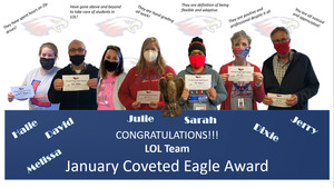 LCMS Staff January Coveted Eagle Award