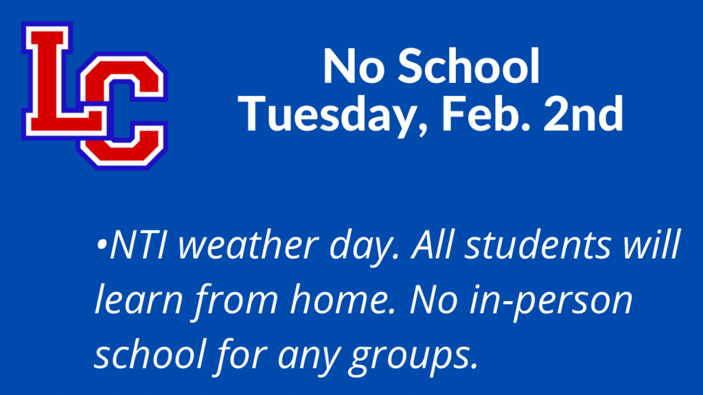 NTI weather day, Tuesday February 2nd
