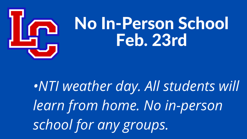 NTI weather day on Tuesday
