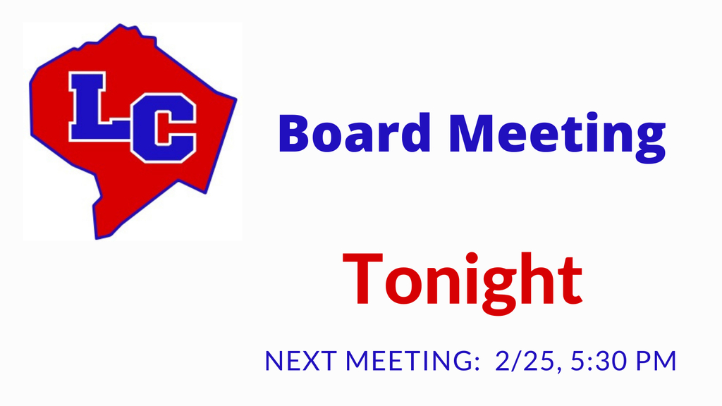 Board meeting tonight at 5:30 pm.