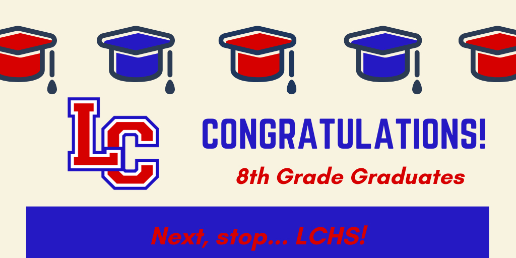 Congrats to 8th grade graduates picture.
