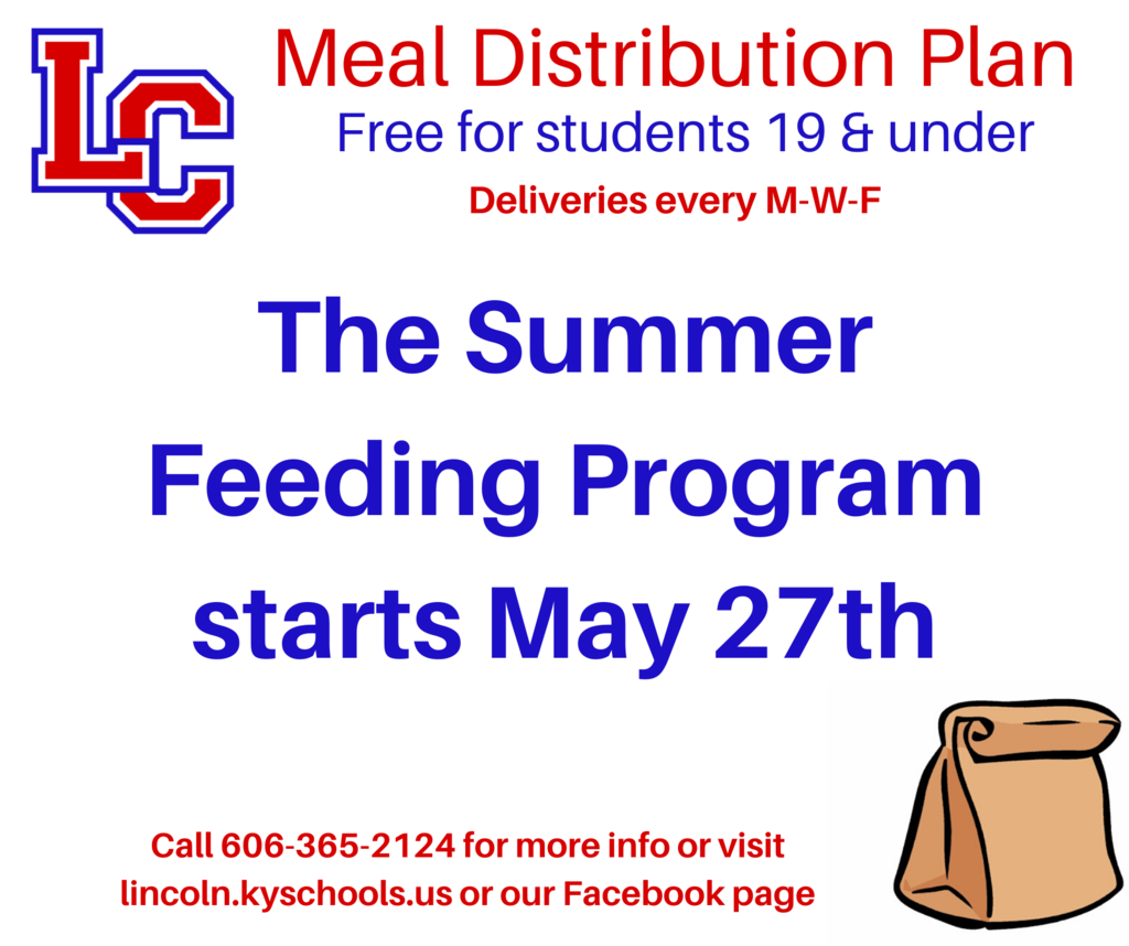 Summer Feeding Program Starts May 27th
