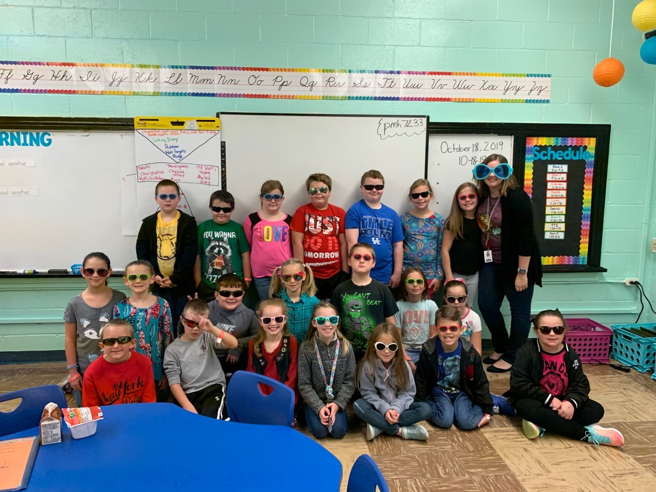 Covey's Homeroom wearing sunglasses during Red Ribbon Week